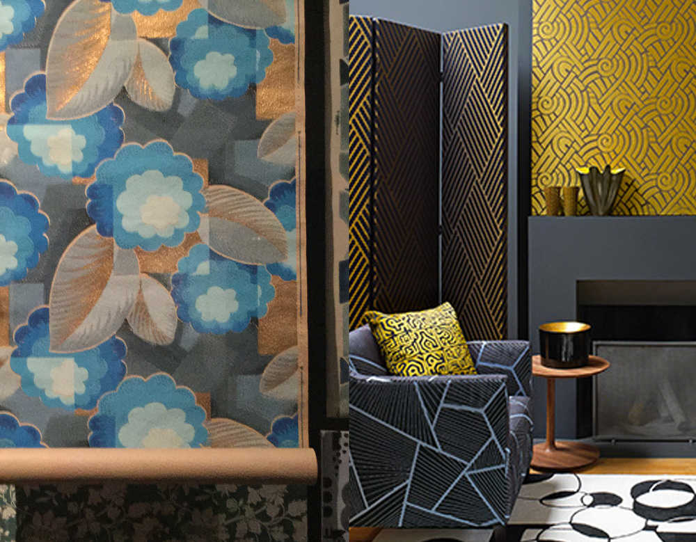 4 Centuries of Wallpaper -  Pierre Frey Charleston collection