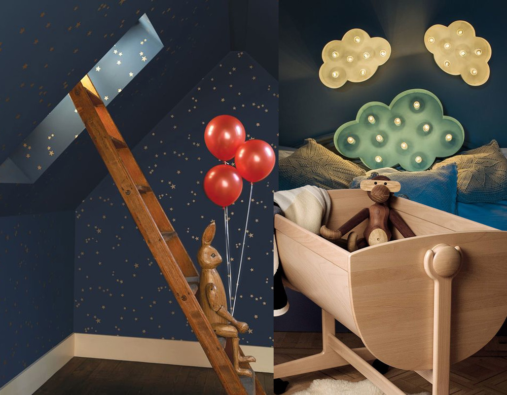 Stars -  Cole and Son  - Clouds  Fabrica de Litere  - Lulu Cradle  BRDR Kruger
