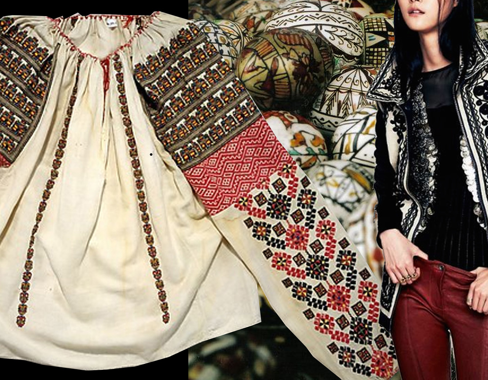 early 20th century Romanian blouse The Met - traditional Easter eggs on Pinterest - embroidered jacket from Free People