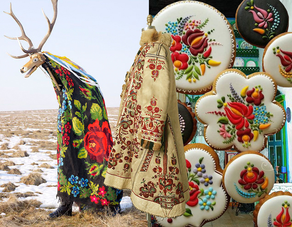 folklore pagan ritual Charles Freger - embroidered coat from 1900 with Matyó Tulip motifs (Hungaria) The Met - decorated cookies from the Hungarian designer Mezesmanna