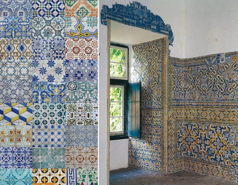 multi-coloured azulejos in Portugal - found on  Pinterest