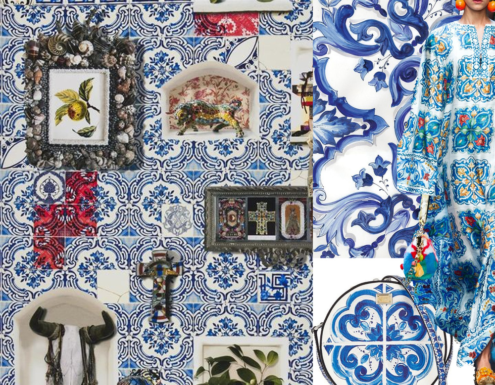 Patio wallpaper Christian Lacroix for  Designers Guild  -  Dolce & Gabbana  winter 2016