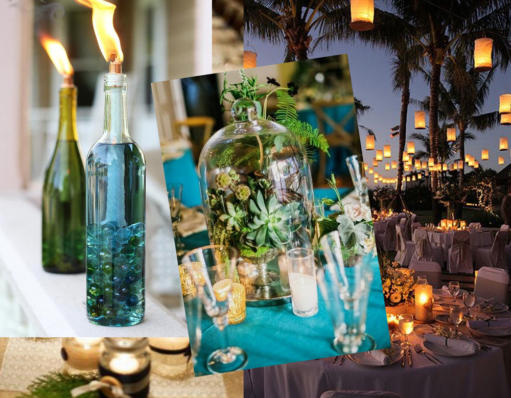 wine bottle citronella candle via Hello Glow - center piece Amy Burke Design - lighting on Pinterest