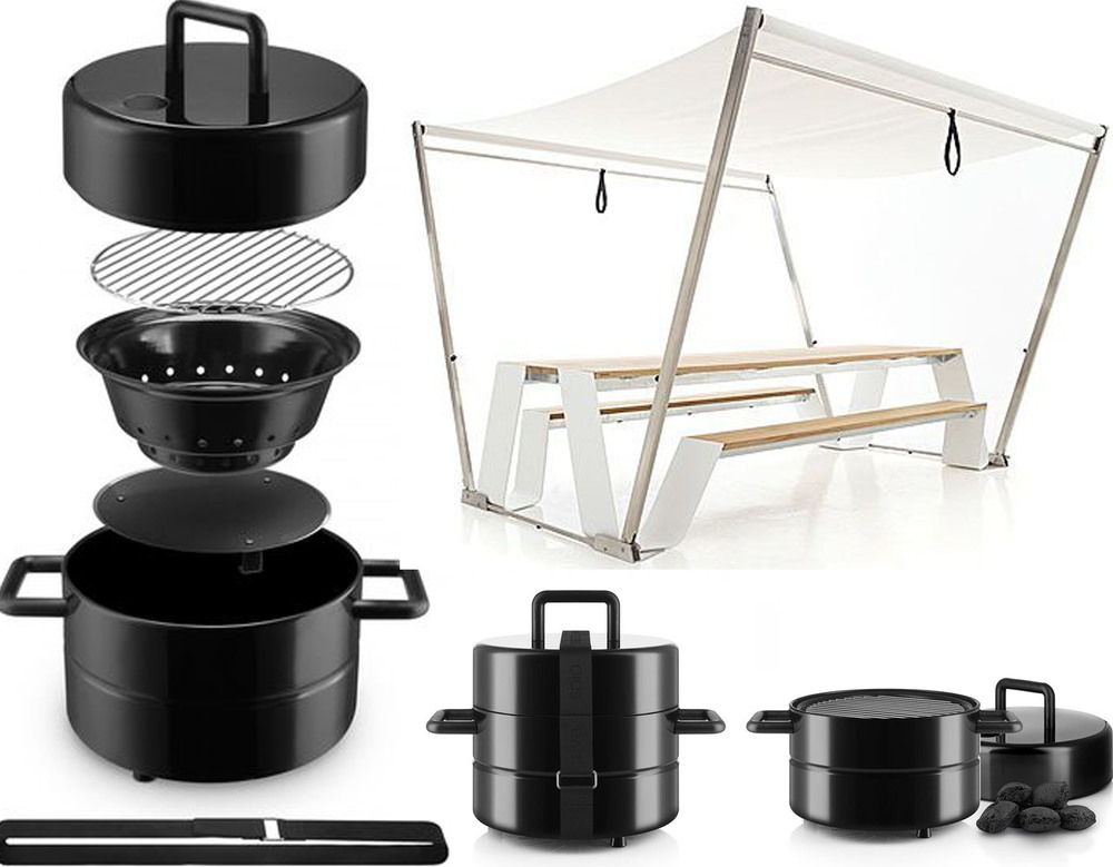 Eva Solo to Go grill on Ambiente Direct - Hopper shade / table Extremis