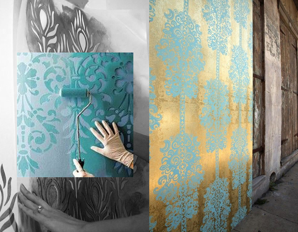 stencil printing can go form easy DIY till exquisite prints on a precious background on Pinterest