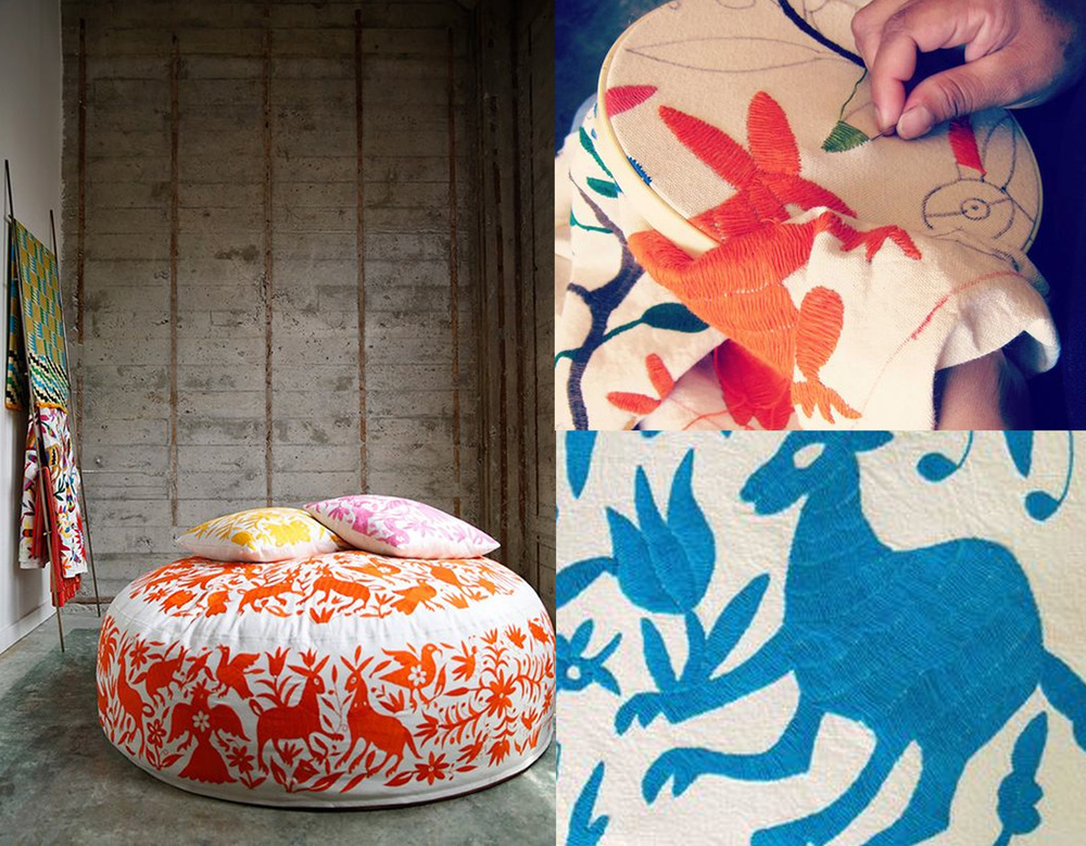 hand-embroidered loungers  Olli