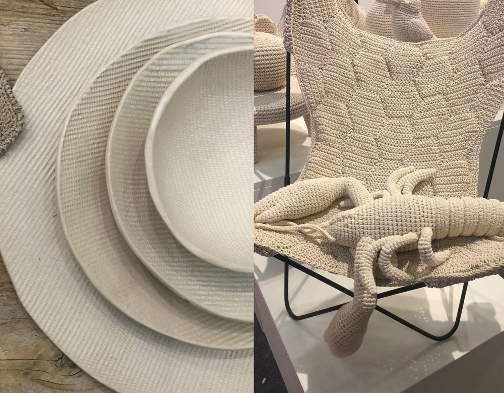 ceramics Fiorira un Giardina - crochet Anne Claire Petit