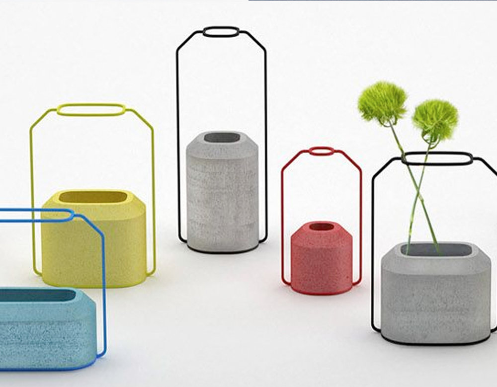 concrete vases via  FAB