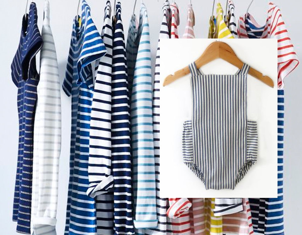 T-shirts via  Bodeusa  - striped romper  Swell & Solis