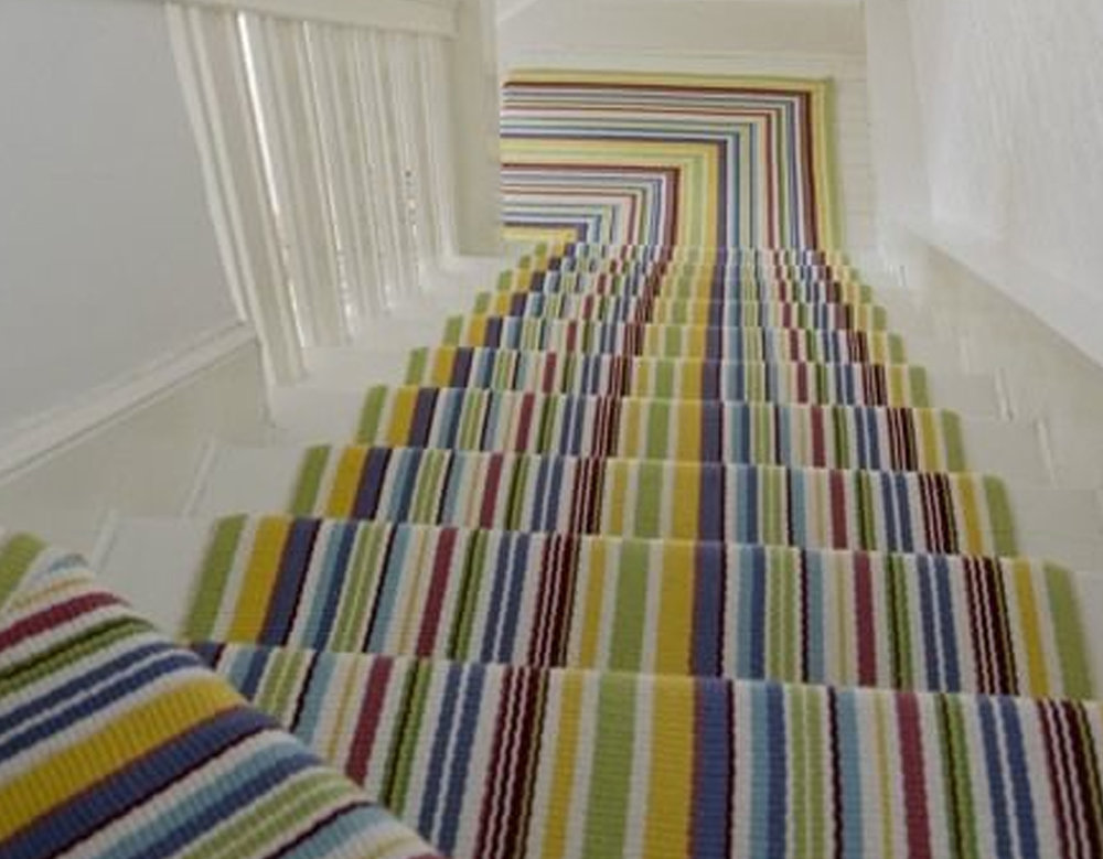 staircase runner via  Shelterness