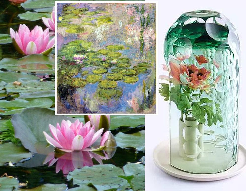 Giverny garden - painting  Monet  - OP-vase  Bilge Nur Saltik