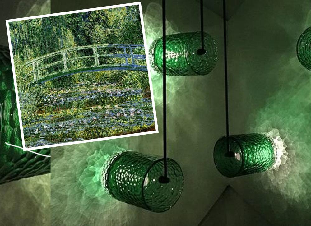 painting Water Lilies  Monet - installation Amplify  Bilge Nur Saltik