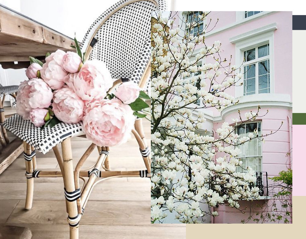 flowers via  Domino  - magnolia via  Pinterest