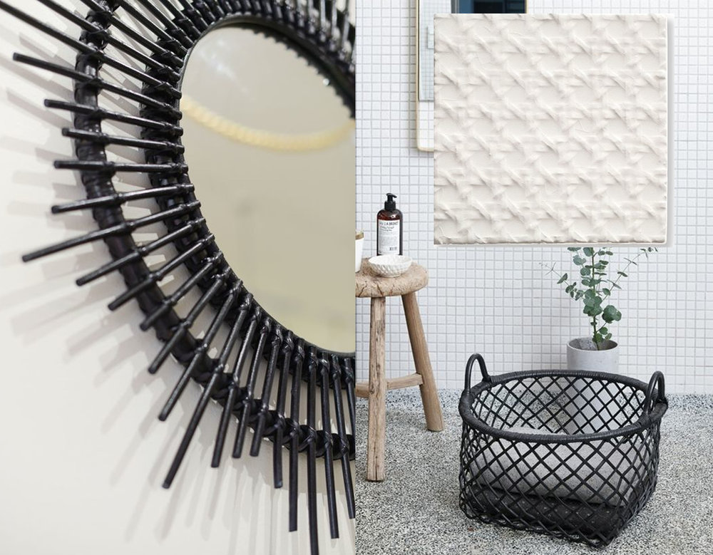 mirror  Milly + Eugene  - tile  Domenico Mori