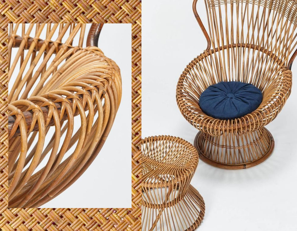 Wicker chair 1950 Franco Albini  - rattan via  google images