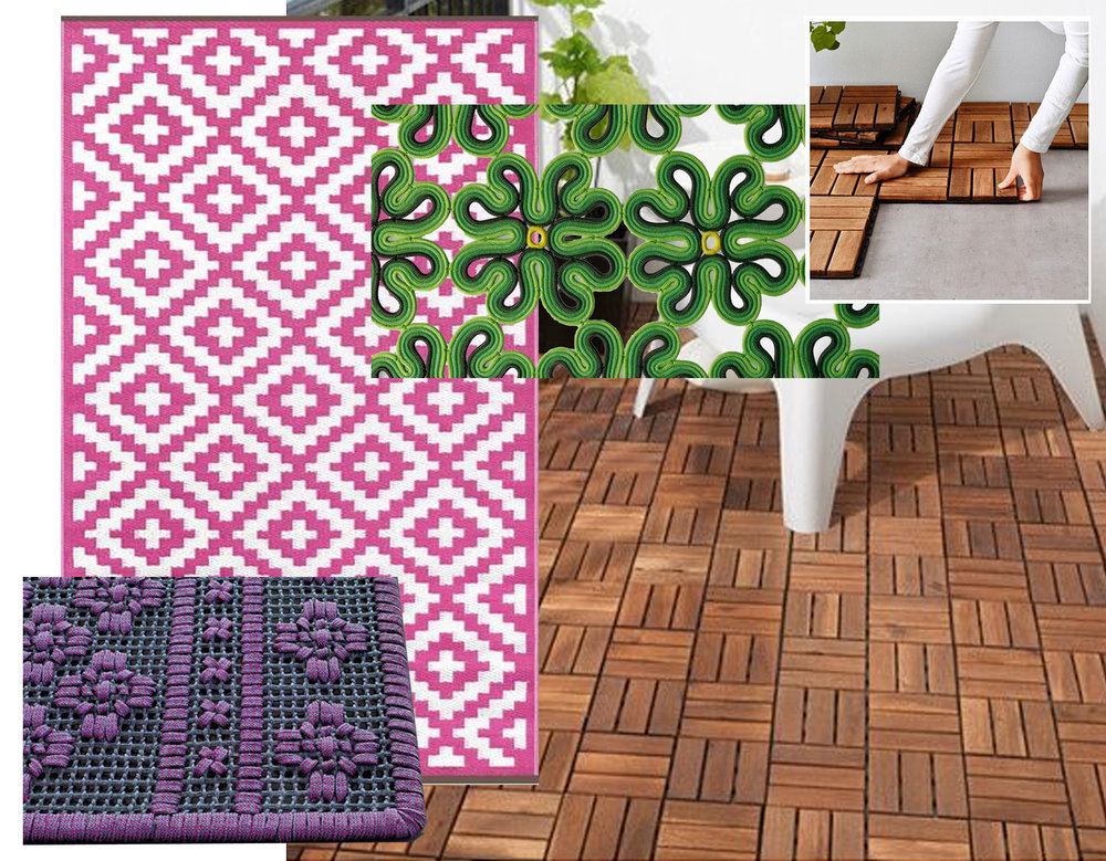 High tech outdoor rugs Paola Lenti - outdoor rug in recycled plastic Green Decore  - wood flooring Runnen IKEA