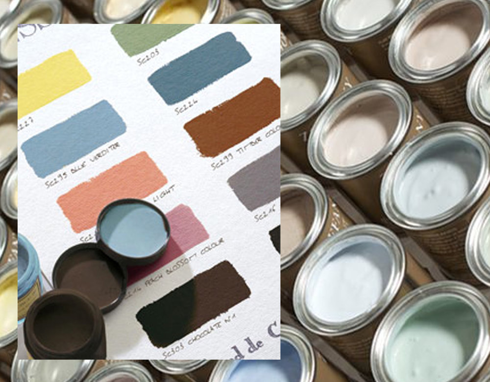 color range with real paint color Ressource - small samples Zoffany