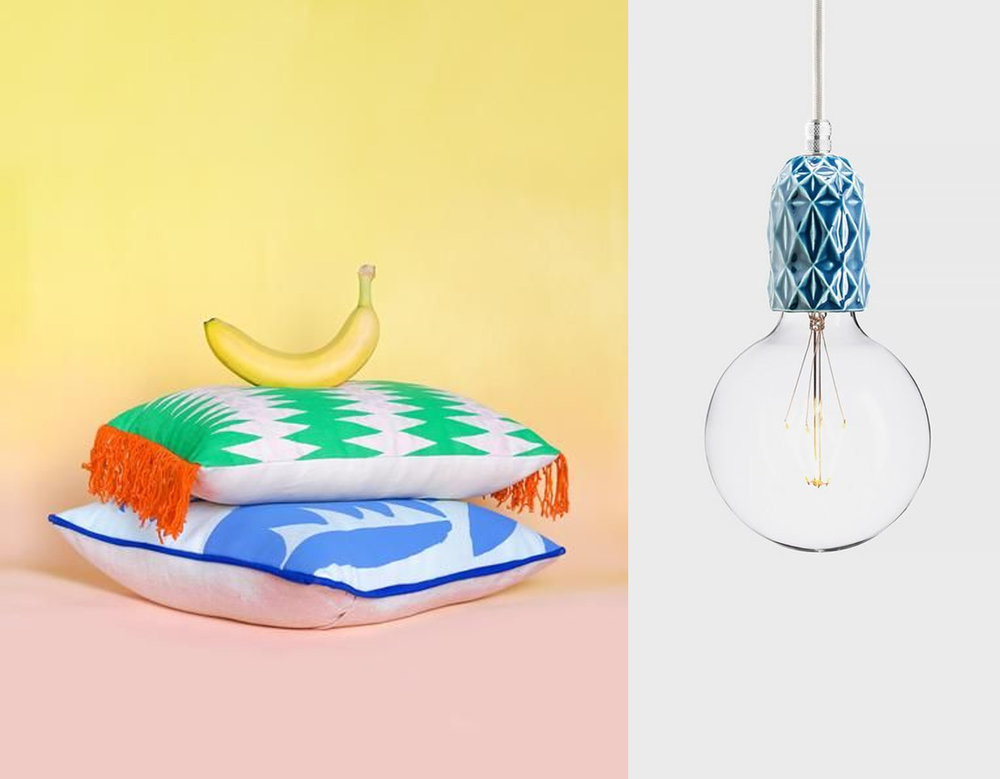 Tropical Hideaway cushions Beech Hall - lamp Latitude