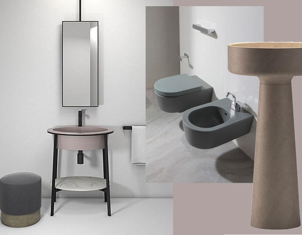 washbasin Catino Cielo - saniteray object Link Ceramica Flaminia - Bjhon1 Agape via Cote Maison