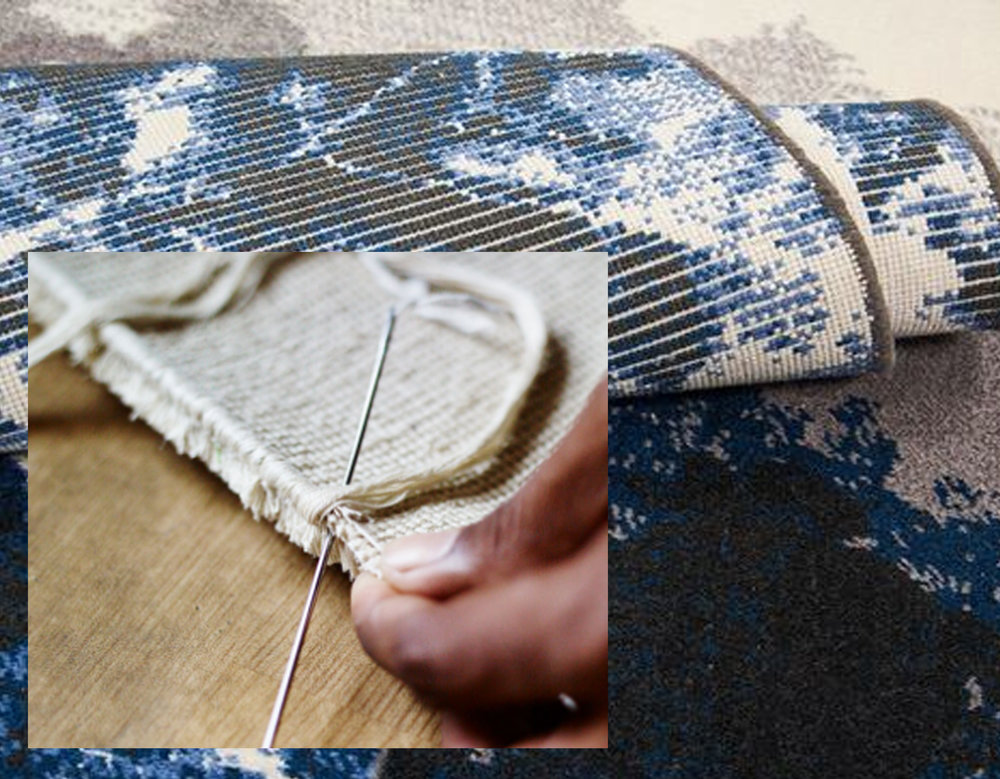 finishing border rug  The Rugcompany  - back side of the rug  Nourison
