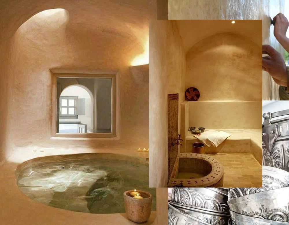 bathtub in tadelakt via Pinterest