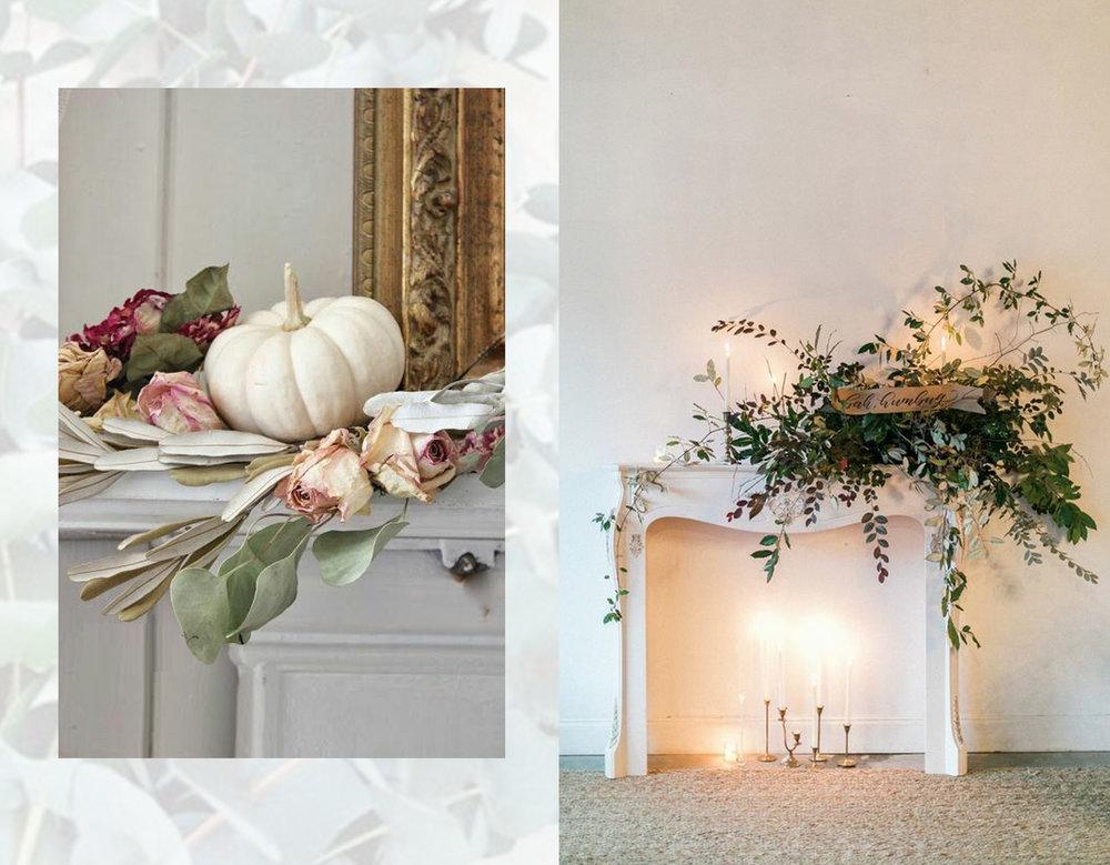 baroque inspired decor via  Pinterest  - mantel piece via  The Dreamery Event  s
