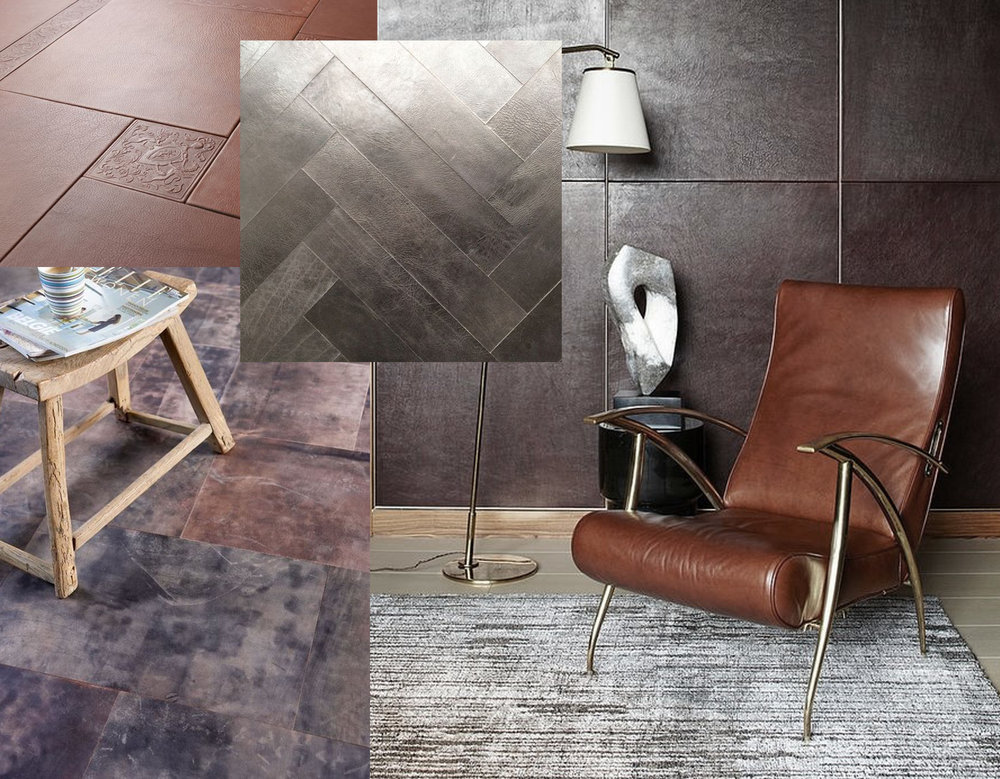 The Magnetic Leather Tiles  - leather floor via  Zantos  -