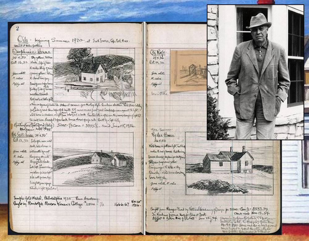 Edward Hopper and his sketch book