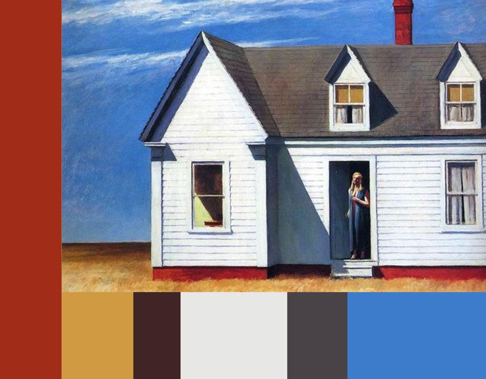 Edward Hopper - High Noon - color harmony