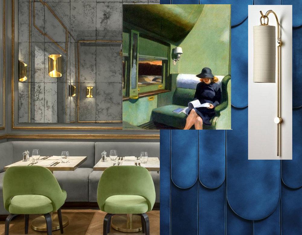 Casa Cavia Buenos Aires via  Design Pinn  - Hopper's painting - Gregoire Lafforet _ Mireille Herbst ARA Screen via  Designboom  - Staff wall light  Articolo