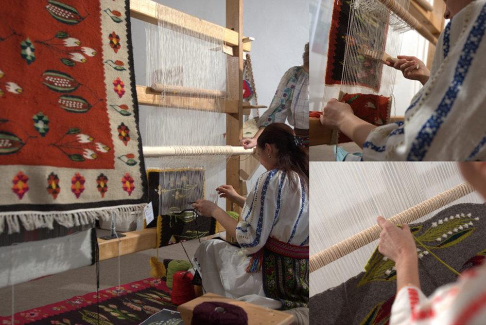 weaving rugs from Oltenia via  Denisa Bârgãu