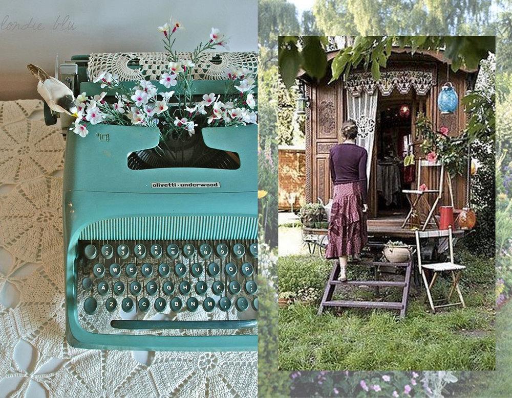 typewriter via  Blondie and Co  - vagon via Festival Creative