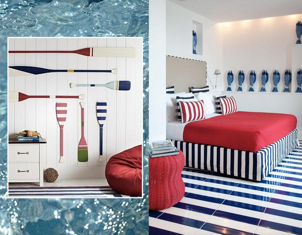 oar wall decor via  Pinterest - bedroom  La Minervetta