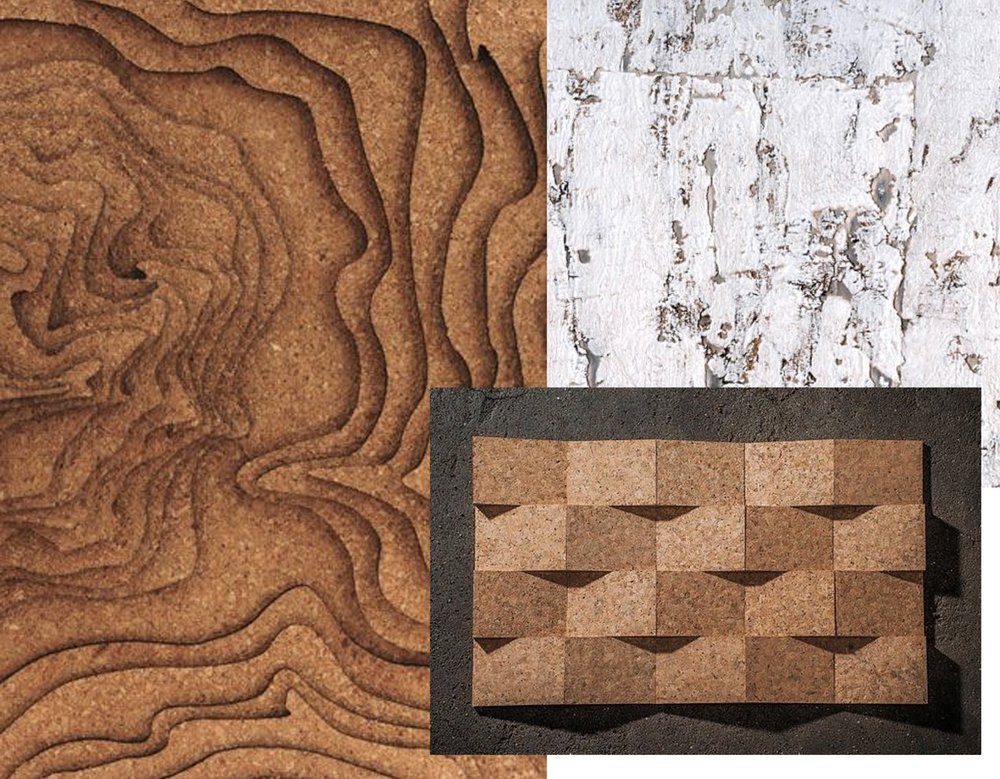cork lasercut  Engravers Network  - wallpaper Eclat  Elitis  - cork 3dimensional  Amorim