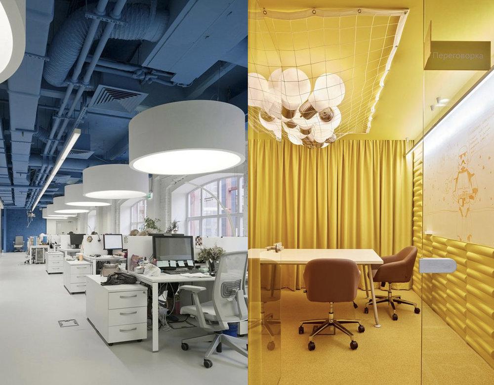 office via  Deco Hunter  - meting room via  Office Snapshots