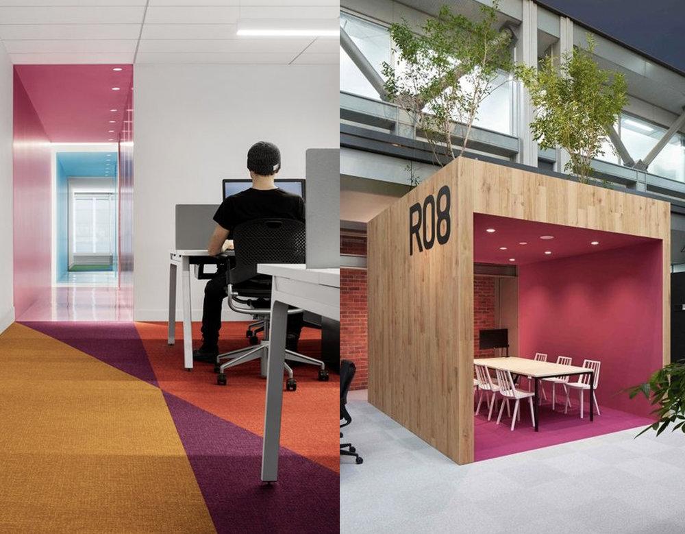 office via  ArchDaily - meeting area via  Home Decor Interior Designs