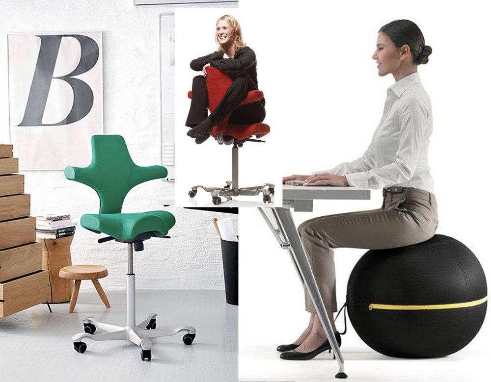 Capisco Chair  Håg  - sit ball Technogym via  Archiproducts