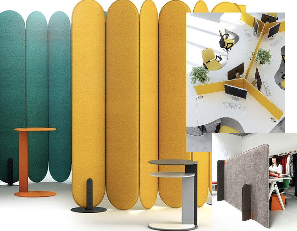 acoustic panels via  IStar Design  - Buzzi Zone by Buzzi Space via  Archiproducts