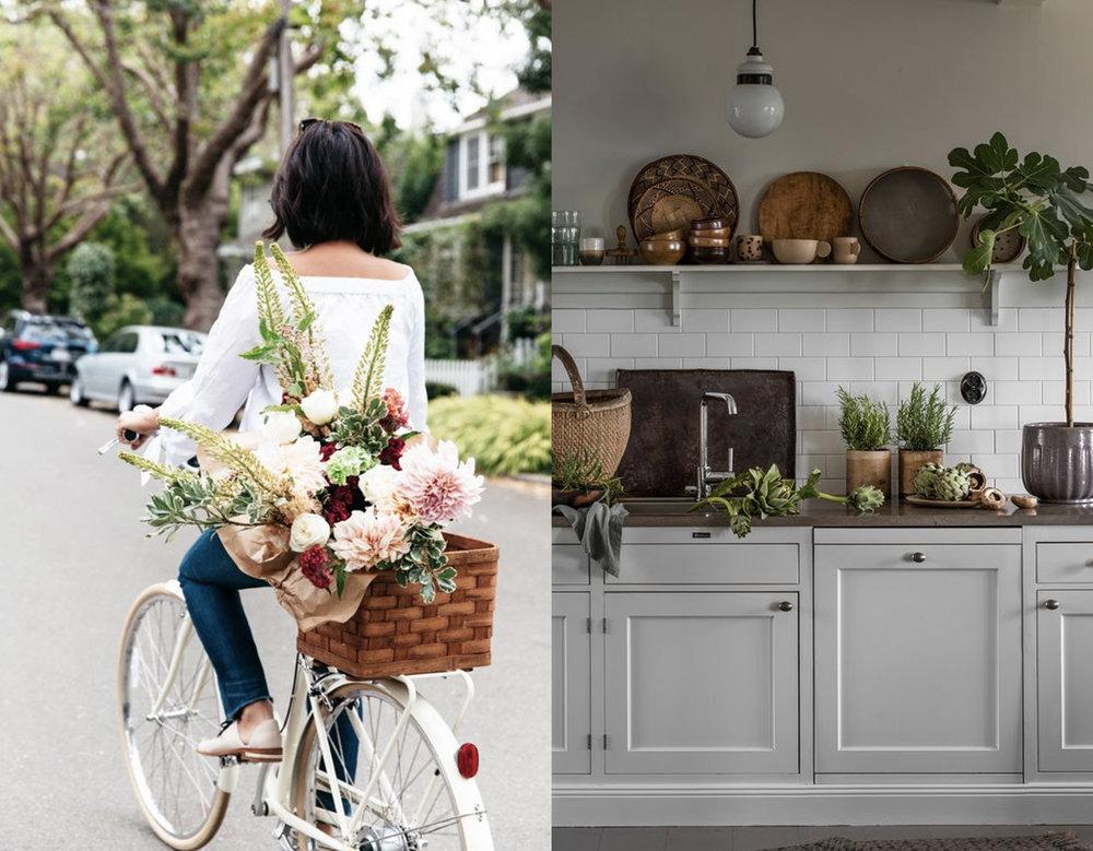 flower girl via  Honestly WTF  - green in the kitchen via  Landliv