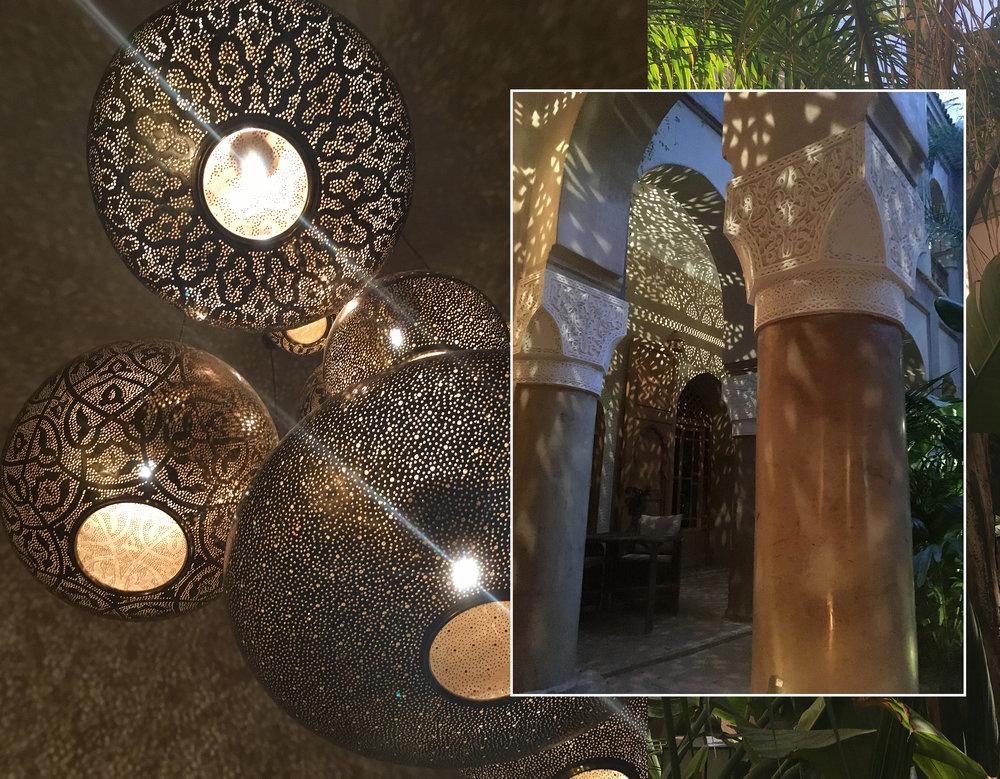 light fixtures and courtyard  La Villa Nomade