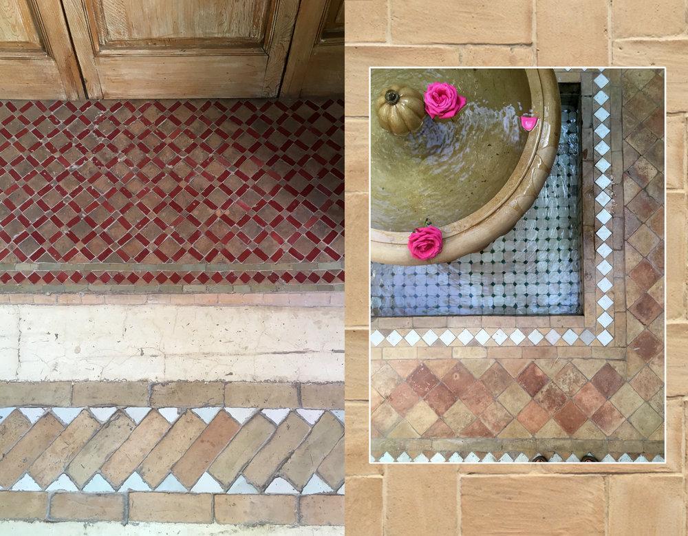 floor tiles at  La Villa Nomade