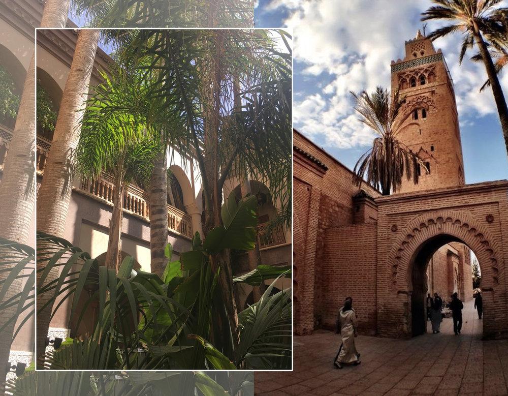 courtyard  La Villa Nomade  - Koutubia mosque Marrakech via  blog by joyce