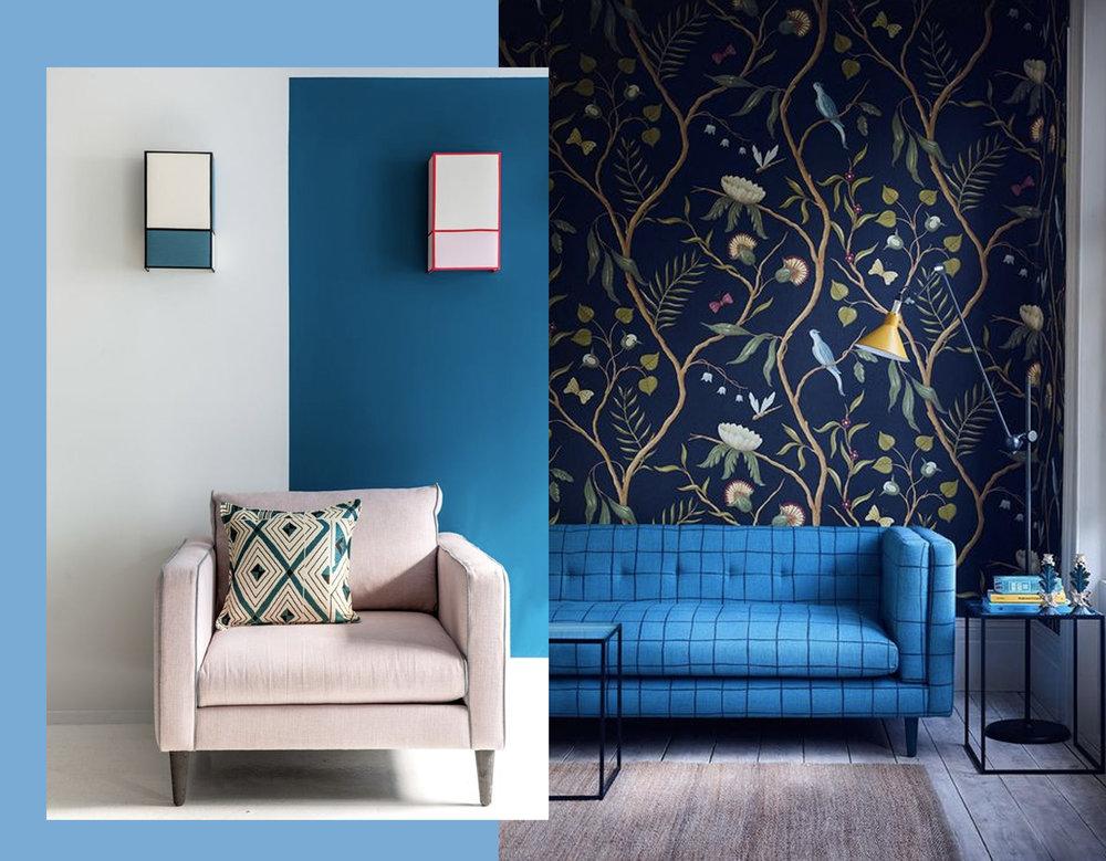 Ressource paint via  Ton Corner  - wallpaper for big impact via  Style bu Emily Henderson