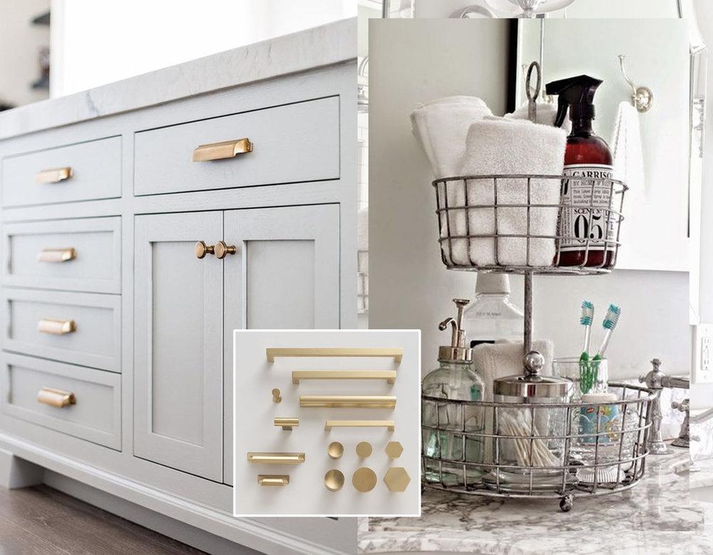 furniture  Ivory Lane  - hardware  Schoolhouse  - vanity top storage  Home Beautiful