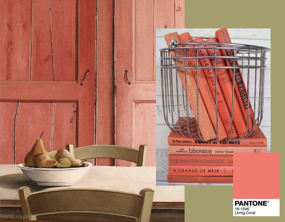kitchen table via  Tumblr  - books via  Roomed