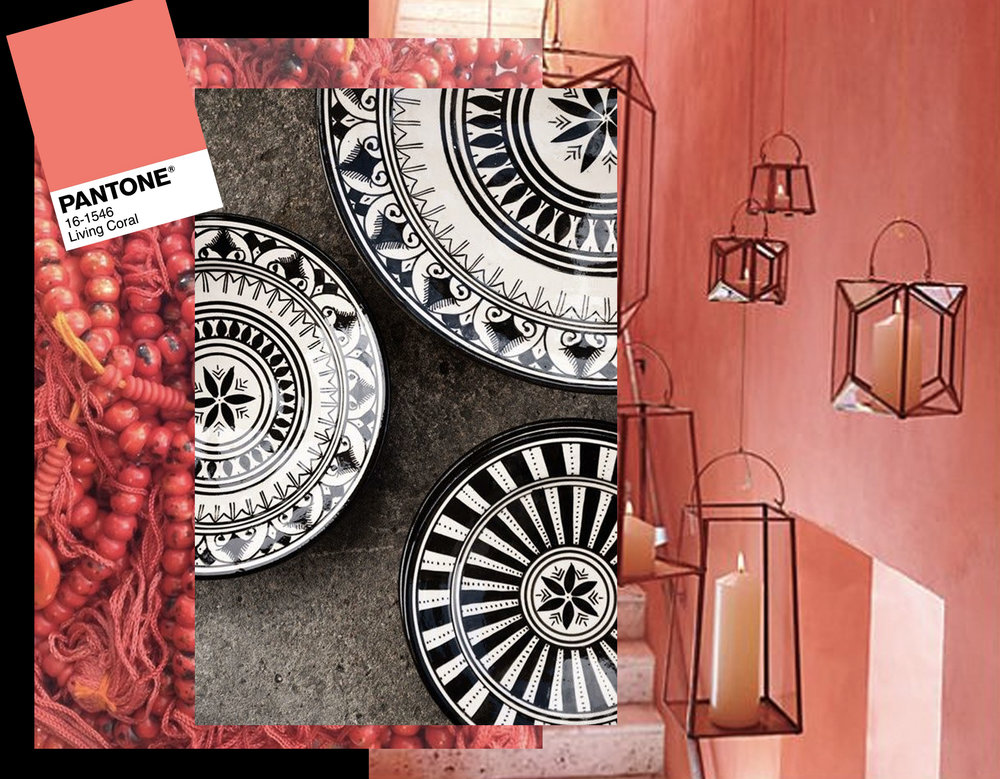 Moroccan plates  Coco Morocco  - jewelry via  Tumblr  - candle holders via  Pinterest