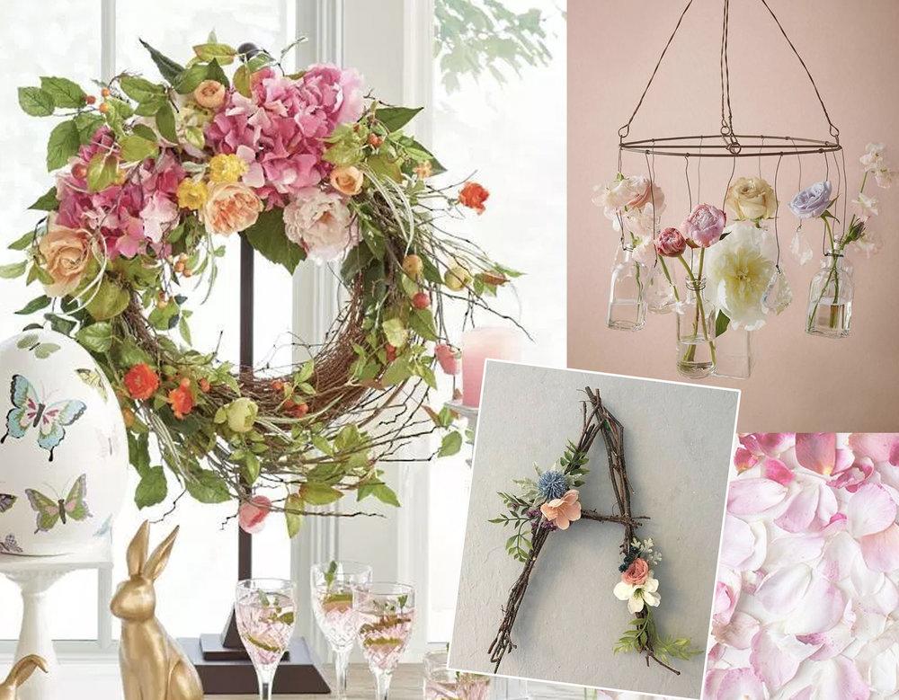 Easter wreath via  La Casa de Freja  - letter A decoration  Do Good Decor