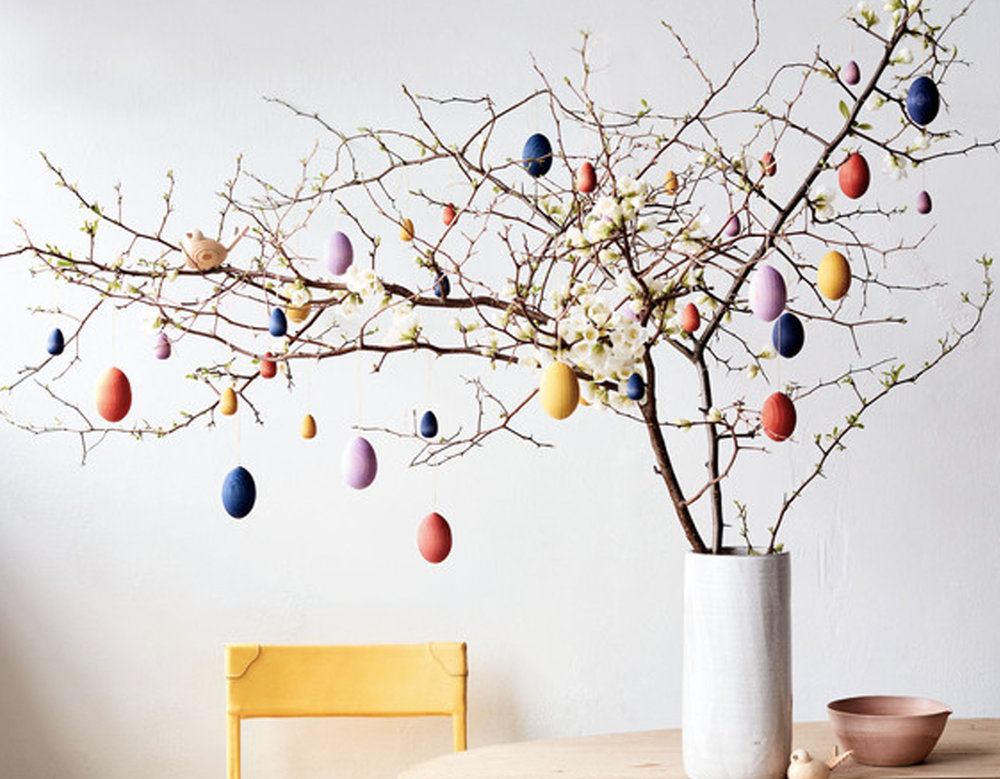 Easter tree via  Martha Stewart