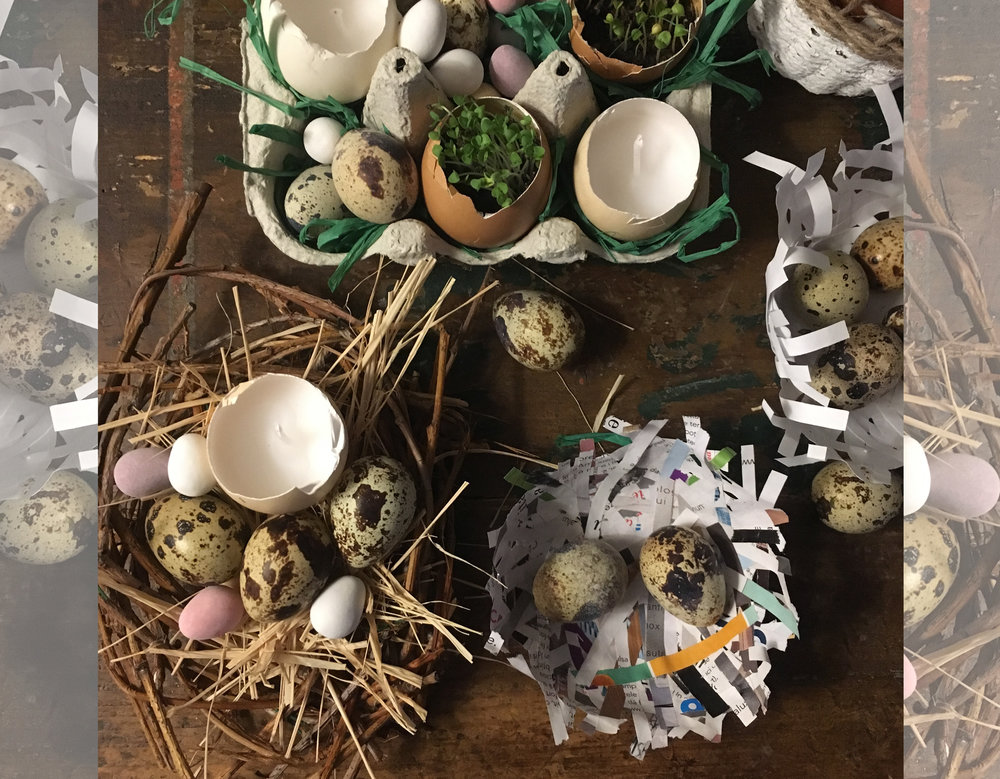 the Easter preparations we did during the  weekend workshop  end of March in Balaban