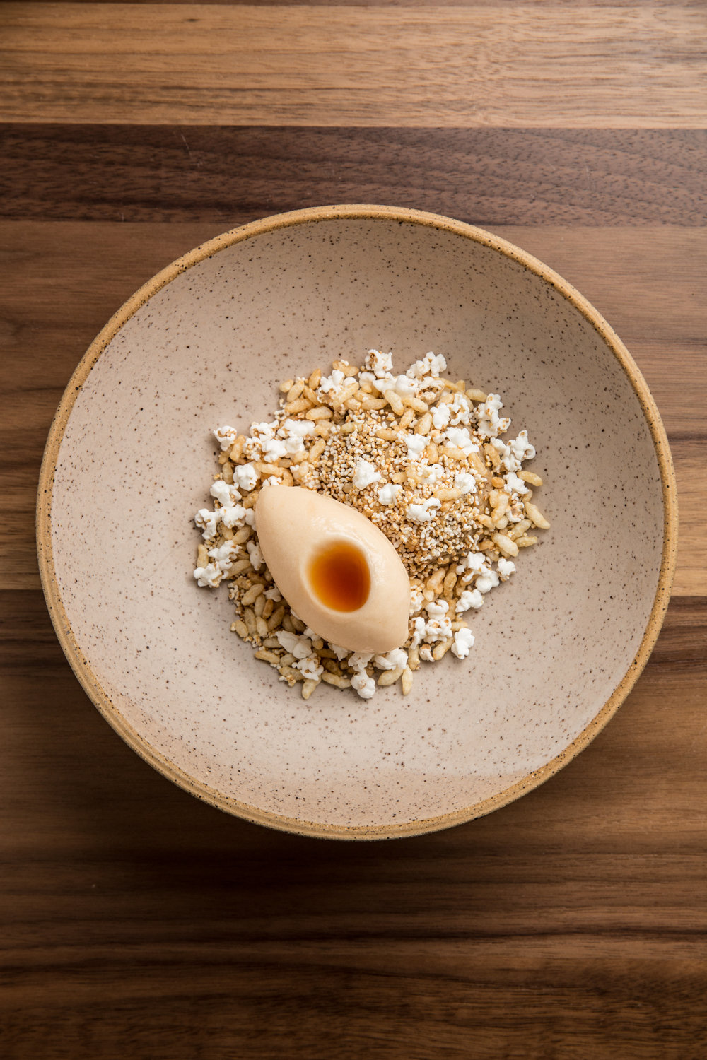 Elske - Rye Bread Porridge with quince sorbet and puffed cereals 2.jpg